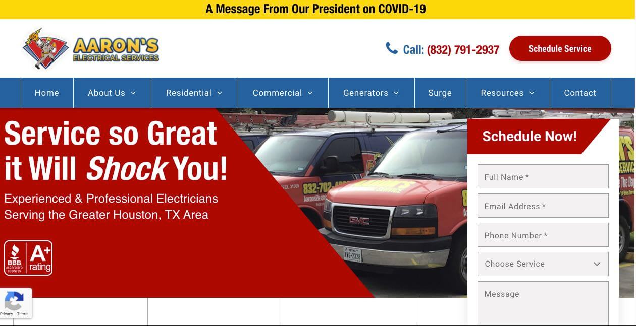 Aarons Electrical Services Electrician Houston
