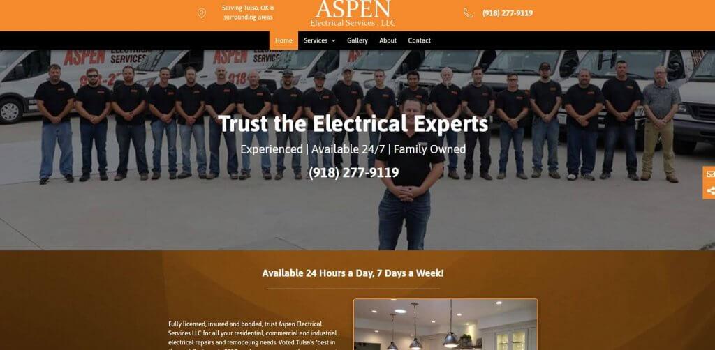 Aspen Electric Service Electrician Tulsa