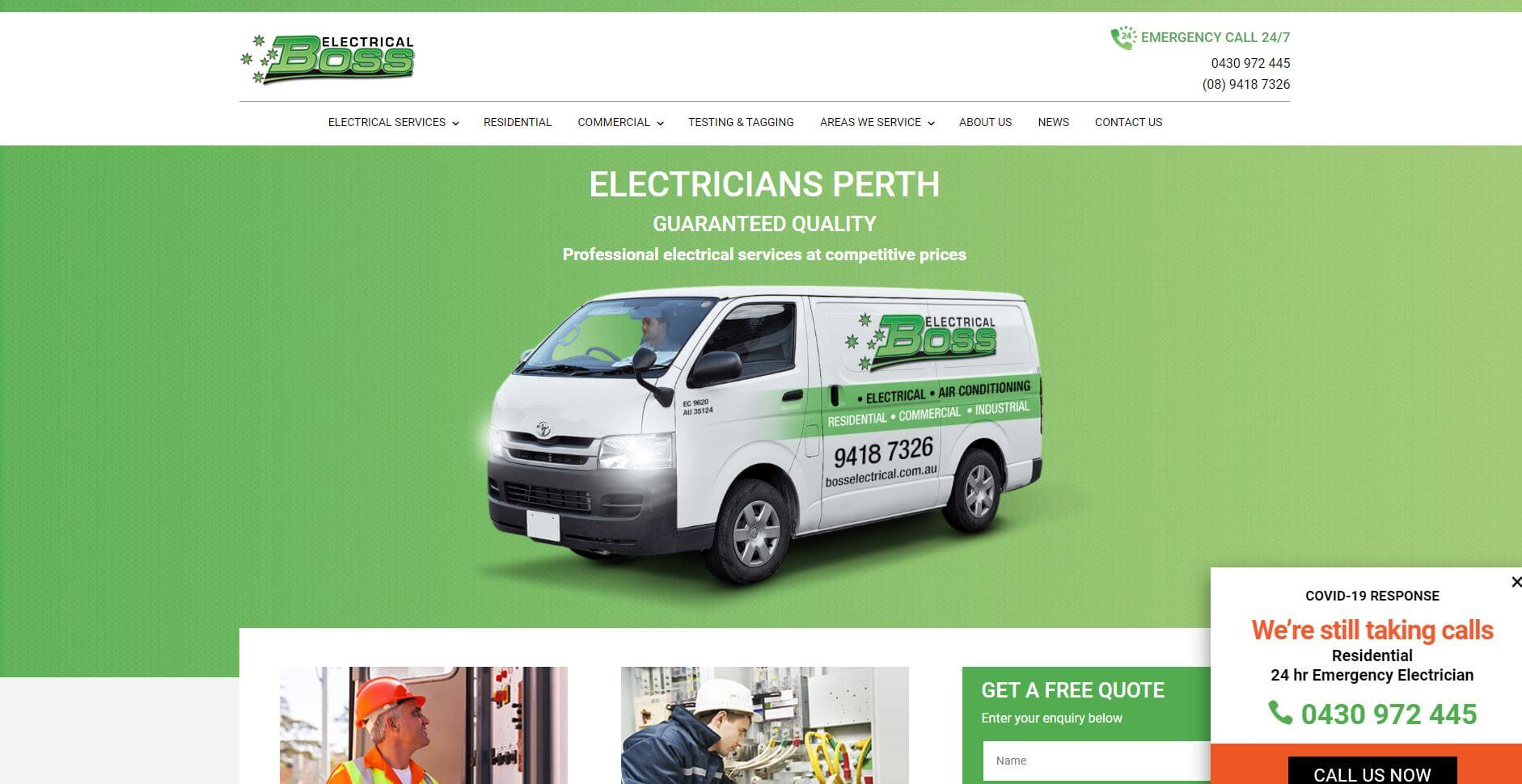 boss electrical best electricians in perth