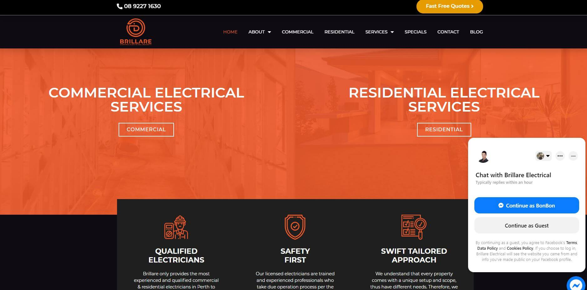 brillare electrical electricians in perth
