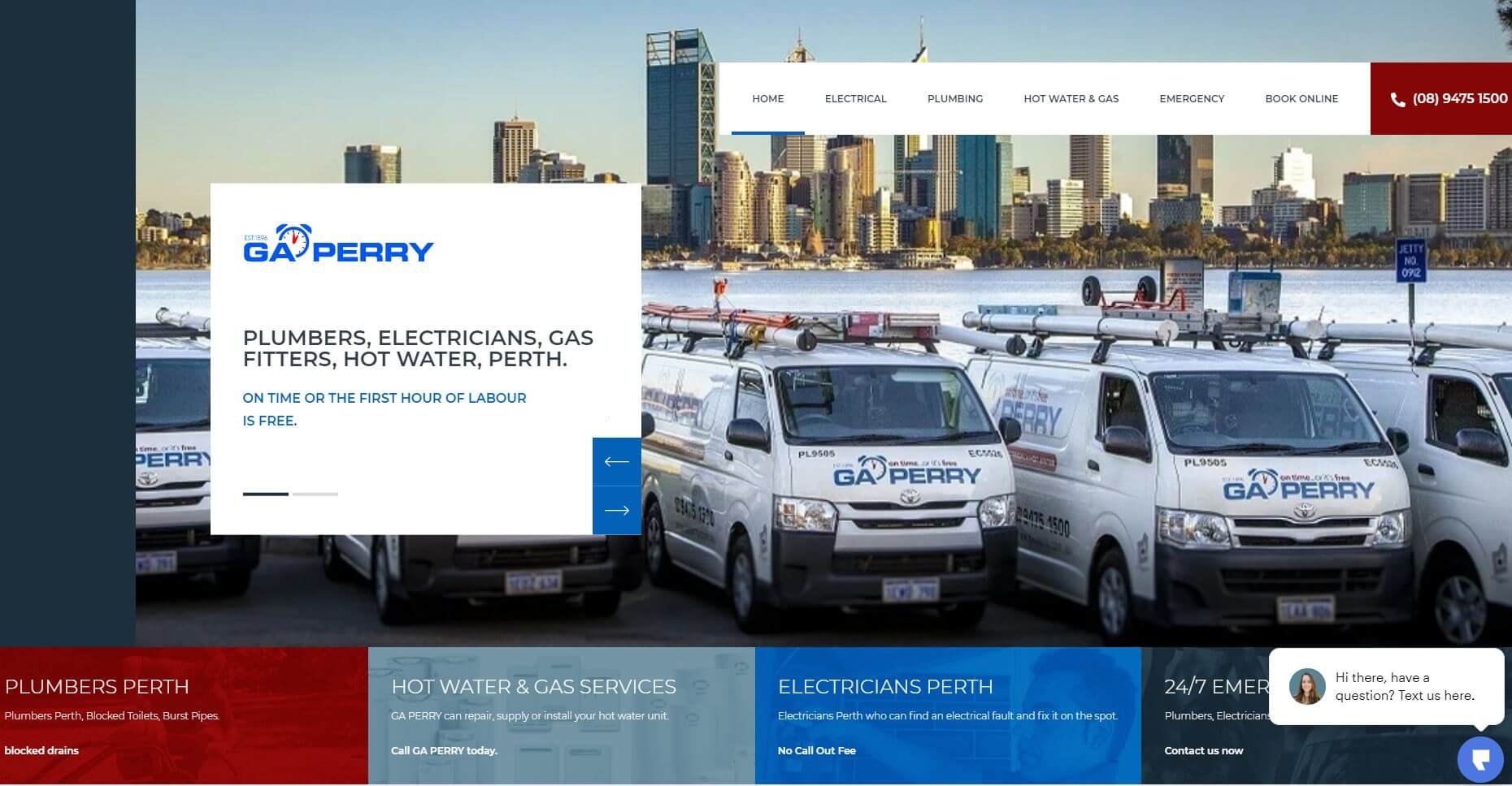 ga perry electricians in perth
