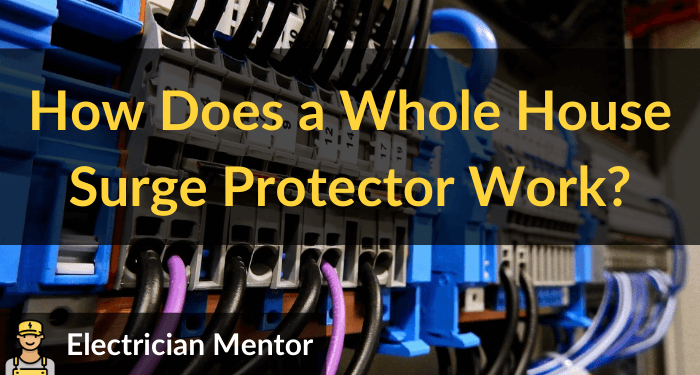 how does a whole house surge protector work