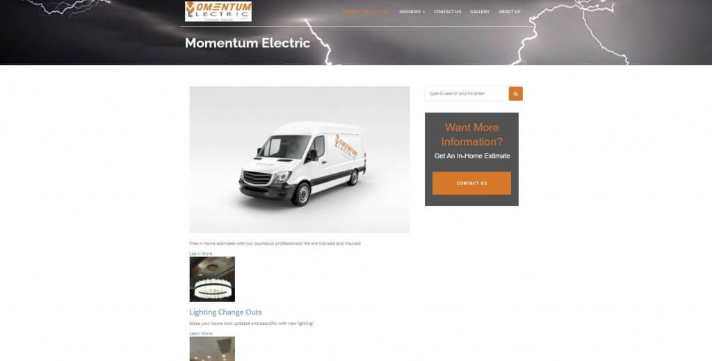 Momentum Electric Electrician Salk Lake City