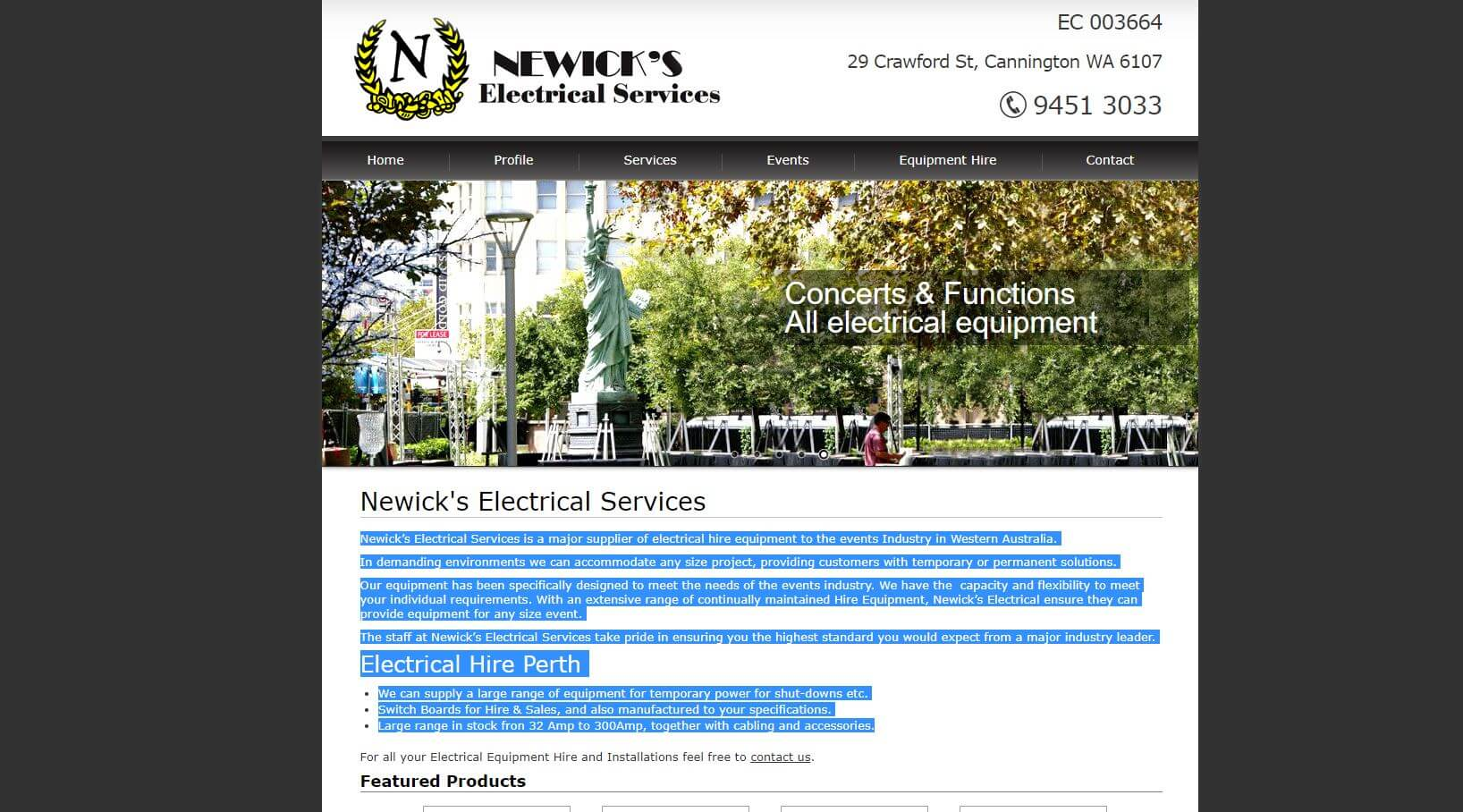newick s electrical electricians in perth