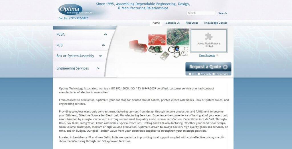 Optima Technology Acssociates Inc