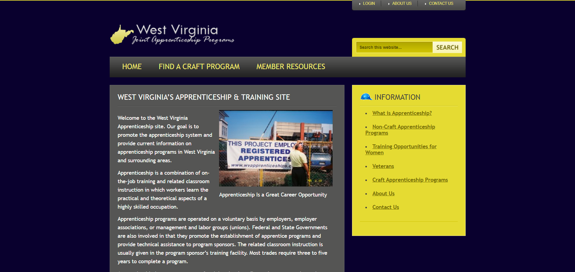 parkersburg joint app. training committee