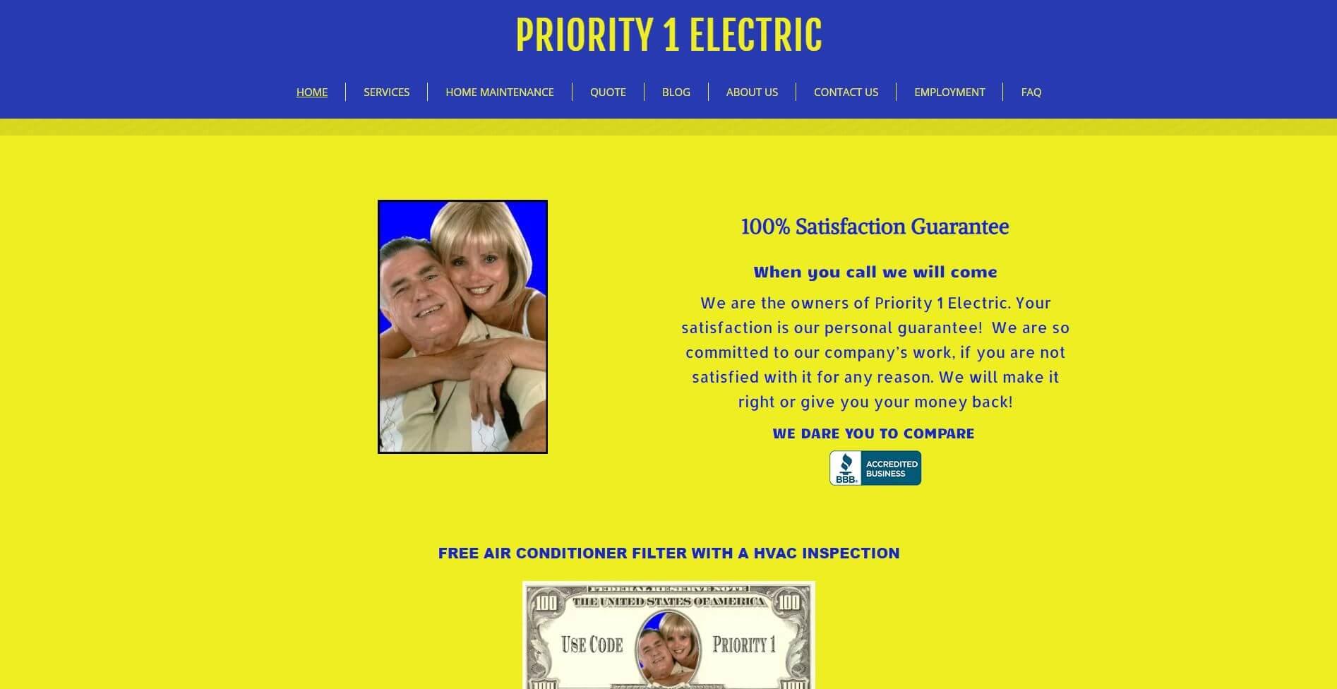 Priority 1 Electric Electrician Sacramento
