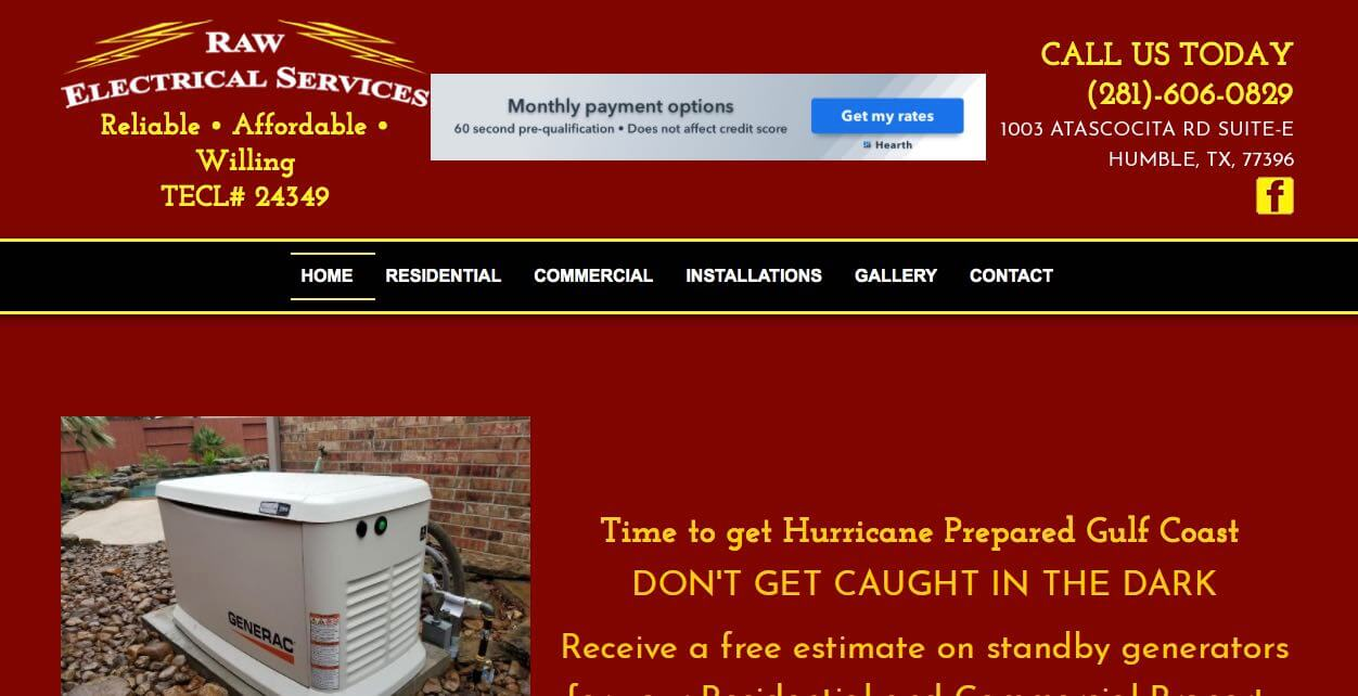 Raw Electrical Services Electrician Houston