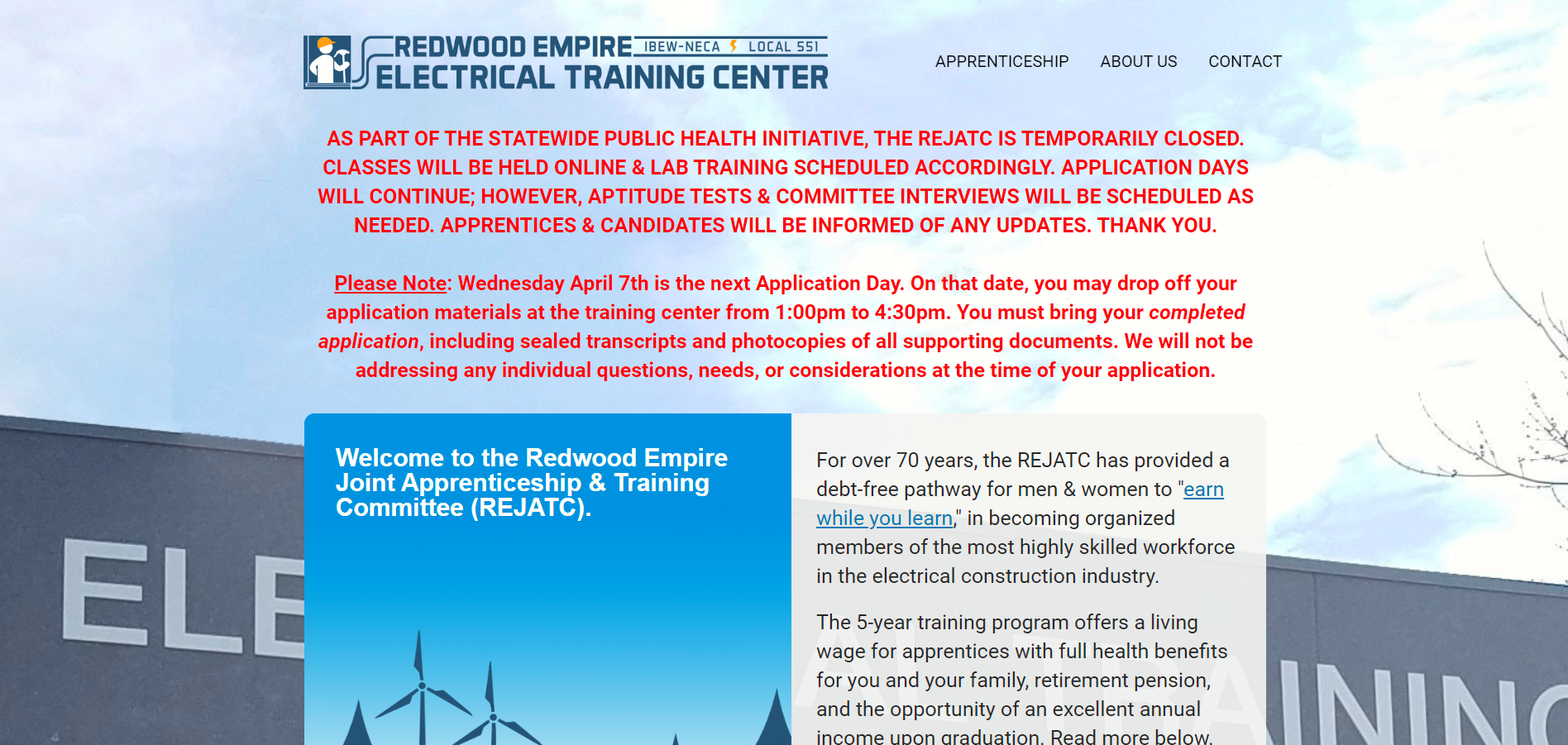 redwood empire electrical training center