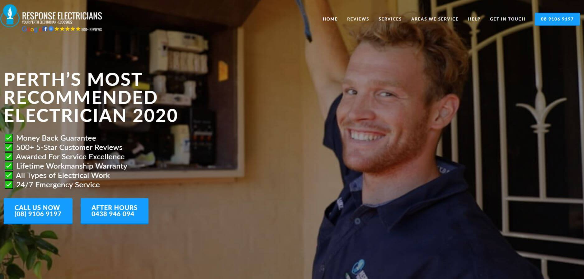 response fire electrical servicesl electricians in perth