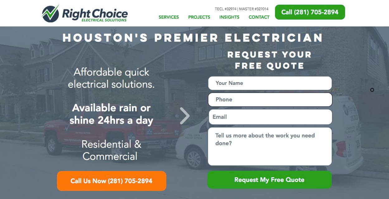 Right Choice Electrical Electrician Houston