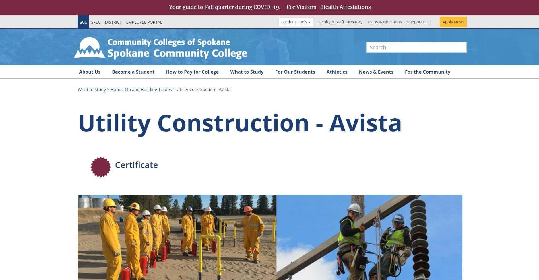 Spokane Community College Lineman Schools Usa