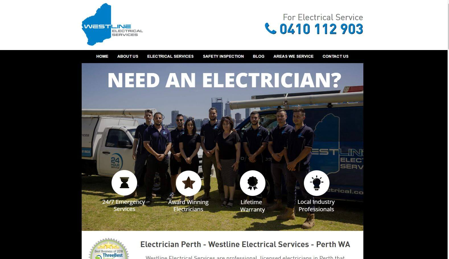 westline electrical services best electricians in perth