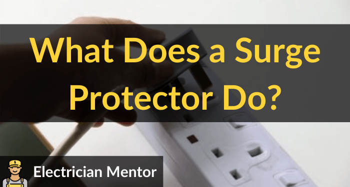 what does a surge protector do